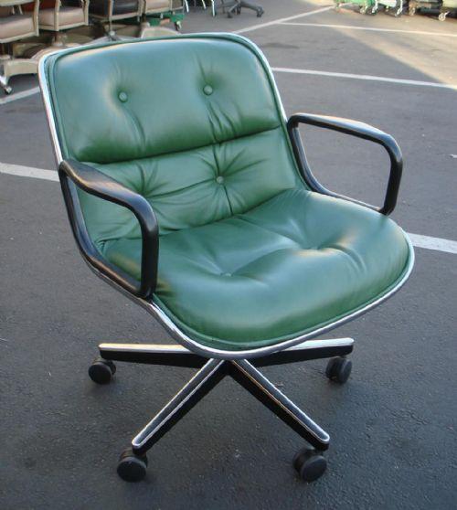 Advanced LiquidatorsKnoll Pollock Leather Chair Green