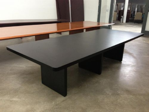 advanced liquidators :: 10ft rectangular conference table in black