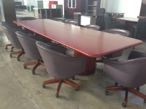 Advanced Liquidators Cherry Wood Conference Table - Cherry wood conference table