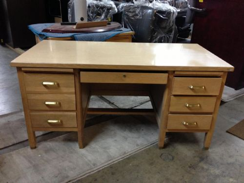 Wooden School Teacher Desk